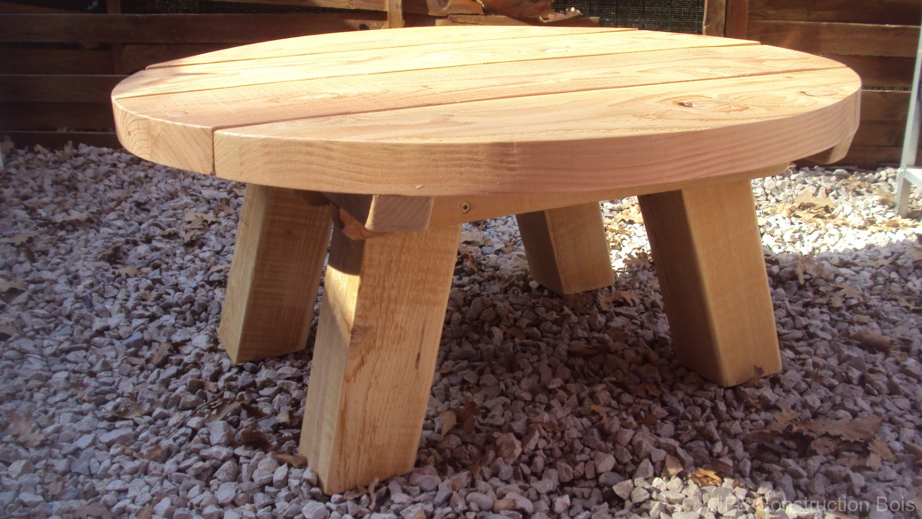 Table basse récup. bois de chantier