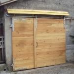 Porte de garage en Mélèze (Crest - 26)