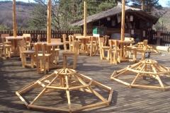 Tables parasols rondes 4 et 6 places (Boffres - 07)